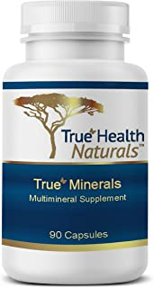 True Health Naturals - True Minerals Supplement, Promotes Gut & Heart Health, 90 Vegetarian Capsules