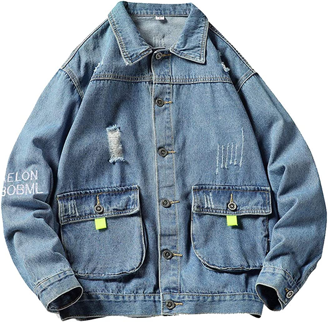 Jackets Lightweight Men's Denim Jacket Autumn Jacket Hong Kong Style Casual Youth Workwear-A-XL