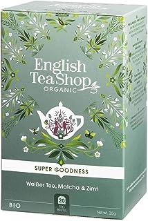 English Tea Shop Organic White Tea, Matcha and Cinnamon 20 Teabags, 35 g