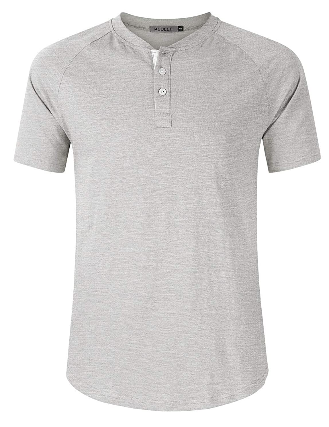 Men's Regular Fit Short Sleeve Henley T-Shirt Tee Classic Slub Henley T-Shirt with Button