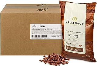 Callebaut 823 Milk Chocolate Callets - 22 LBS Belgian Baking Chocolate Callets - Min 30.2% Cocoa butter, 4....
