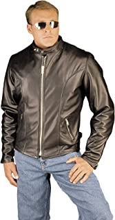 Classic Motorcycle Leather Jacket Made in USA