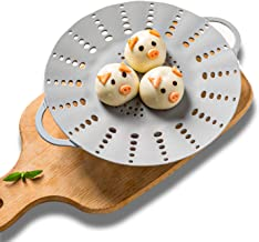 MANO Silicone Steamer Baskets for Instant Pot Foldable Steam Rack Compatible with 6 Qt and 8 Qt Cooking Pots,grey