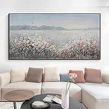 Handgeschilderd Olieverfschilderij - Moderne Abstracte Kleurrijke Bloemen Handgeschilderde Mes Dik Olieverfschilderij Op C...