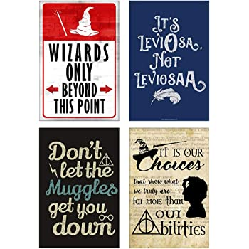 IMPOSTER 300GSM High-Resolution Prints Harry Potter Posters for Room (Paper, Multicolour, 8x12 inches) Set of 4
