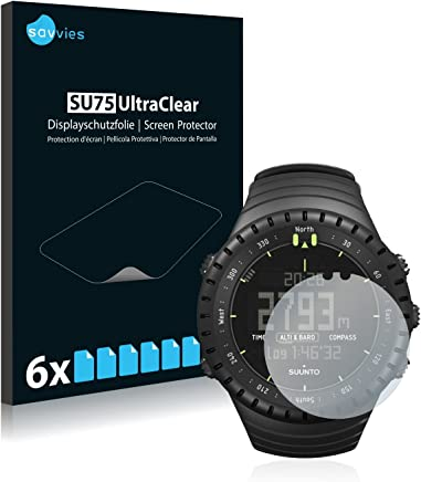 Savvies Pellicola Protettiva compatibile con Suunto Core All Black Protezione Schermo [6 Pezzi]