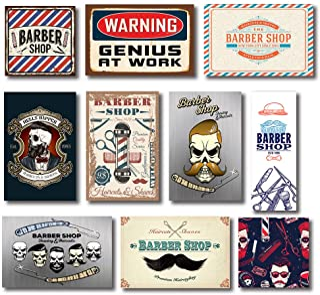 Kit 10 Placas Decorativas Mdf Barbearia Barber Shop
