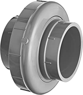 GF Piping Systems PVC Pipe Fitting, Union, Schedule 80, Gray, 2
