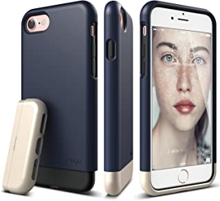 elago iPhone 7 Case [Glide][Jean Indigo/Champagne Gold] - [Multi-Option Case][Military Drop Test Certified][Sophisticated Shock Absorption] - for iPhone 7