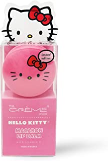 The Crème Shop x Sanrio Hello Kitty Macaron Lip Balm (Hello Kitty Icing On The Cake) Korean Cute Scented Pocket Portable Soothing Advanced Must-Have on-The-go