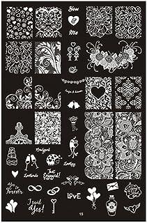 HCFKJ DIY Nail Art Image Stamp Stamping Plates Manicure Template
