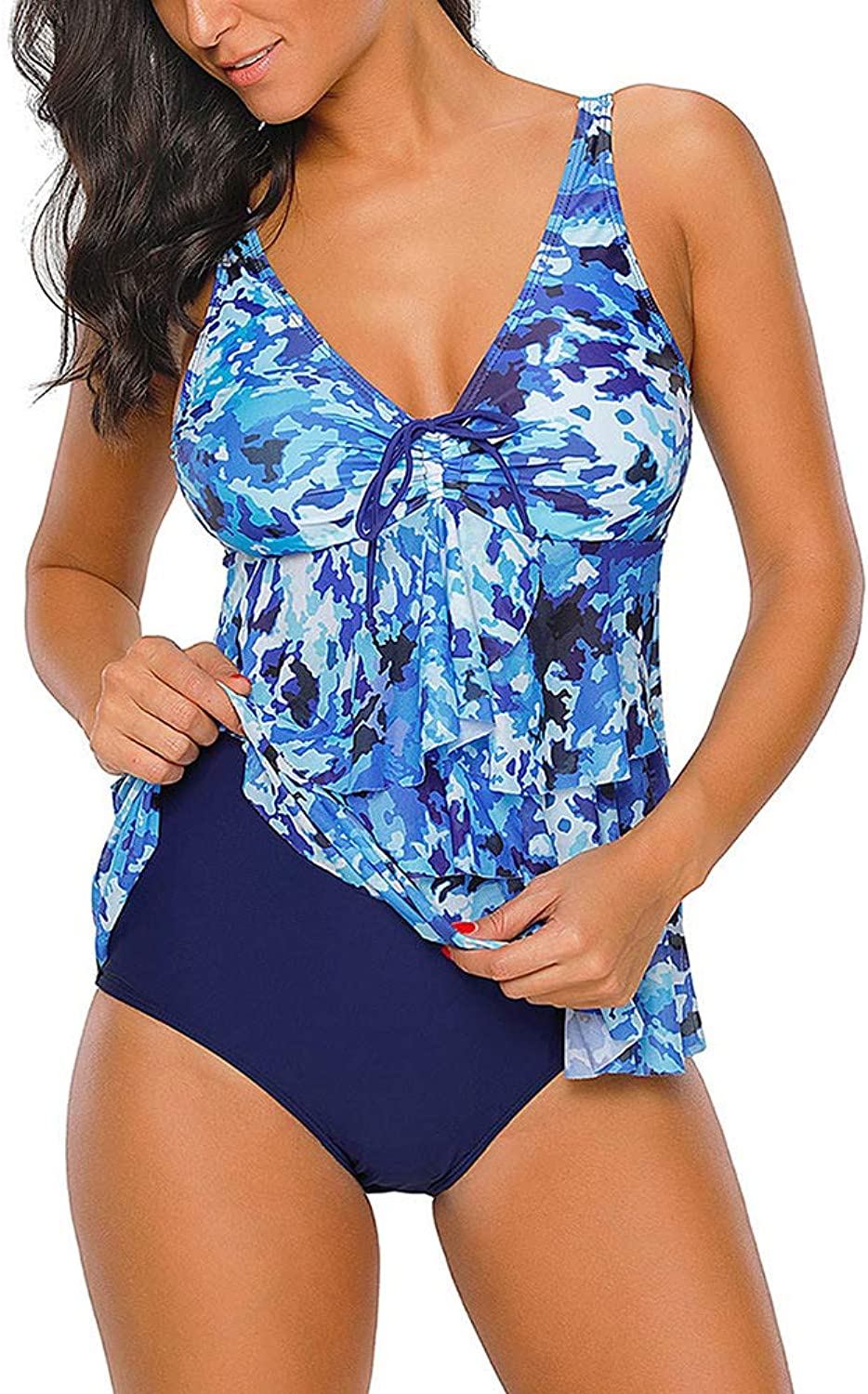 Women's Swimsuit, OnePiece Belly Control Swimsuit Skirt Swimsuit Large Size Print Swimsuit Set