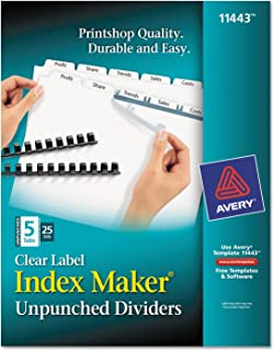 Ave11443–Avery Index Maker clair Label intercalaire