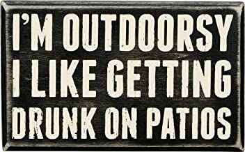 Primitives by Kathy Classic Box Sign, I'm Outdoorsy