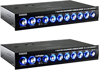 $105 » Audiopipe EQ-709X 7 Band 9 Volt Universal Half DIN Graphic Car Audio Equalizer for Car Stereo Sound System Subwoofer Speak...