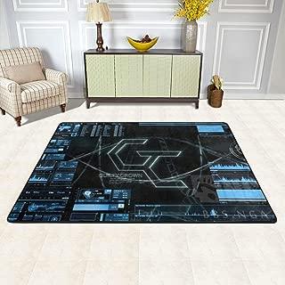Angela R Mathews Guilty Crown-Interface Non-Slip Carpet Area Rug Modern Flannel Microfiber Anime/Cartoon Rectangle Carpet Decor Floor Rug Living Room,Bedroom,Study Floor Mat 6' X 4'