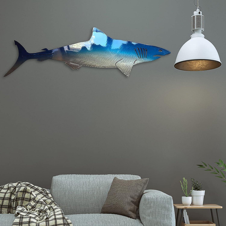 Qiajgha Shark Metal Wall Art