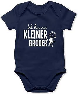 Shirtracer Ich bin ein Kleiner Bruder Strichmännchen - Baby Body Kurzarm für Jungen und Mädchen