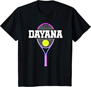 Kids Tennis Girl Dayana Birthday T-Shirt Racket Kid's Name Gift