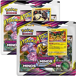 Pokémon TCG: Sun & Moon—Unified Minds Three-Booster Blister