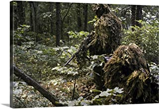 GREATBIGCANVAS Gallery-Wrapped Canvas A Marine Sniper Team Wearing Camouflage Ghillie Suits by Stocktrek Images 30