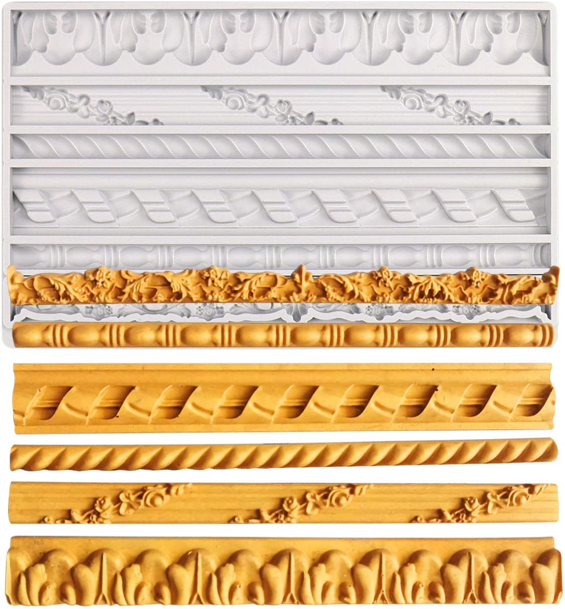 Cake Manufacturer regenerated product Border Fondant Mold online shop Vintage for D Silicone Frame