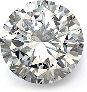 Moissanite D Colorless Simulated Diamond Loose Stone Round Excellent Cut Gemstones VVS1 Clarity for Pendant Ring Stud Earr...