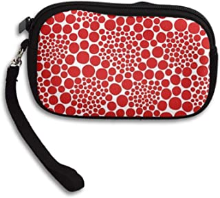 Coin Purse Yayoi Kusama Zipper Wallet Mini Wristlet Cash Phone Holder Change Pouch