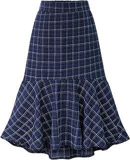 Femmes Filles Tartan à Carreaux Patineuse Plissée À Boucle Kilt Jupe Plus Taille Jupes