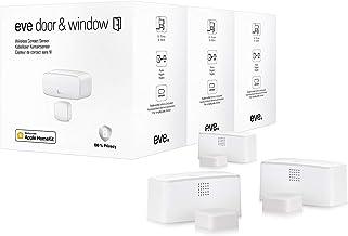 Eve Door & Window, 3 stuks - Slimme contactsensor voor deuren en ramen, Bluetooth Low Energy, met Apple HomeKit-technologie