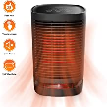 KKCITE Portable Space Heater 950W,Ceramic Personal Space Heater,Multifunctional Rotatable Fan Warmer with 3 Modes For Home Office