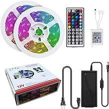 LED strip lights, MODAR 5050 RGB light strip with 600 beads (300x2), Waterproof LED strips 32.8ft (16.4ftx2) , Rope Lights...