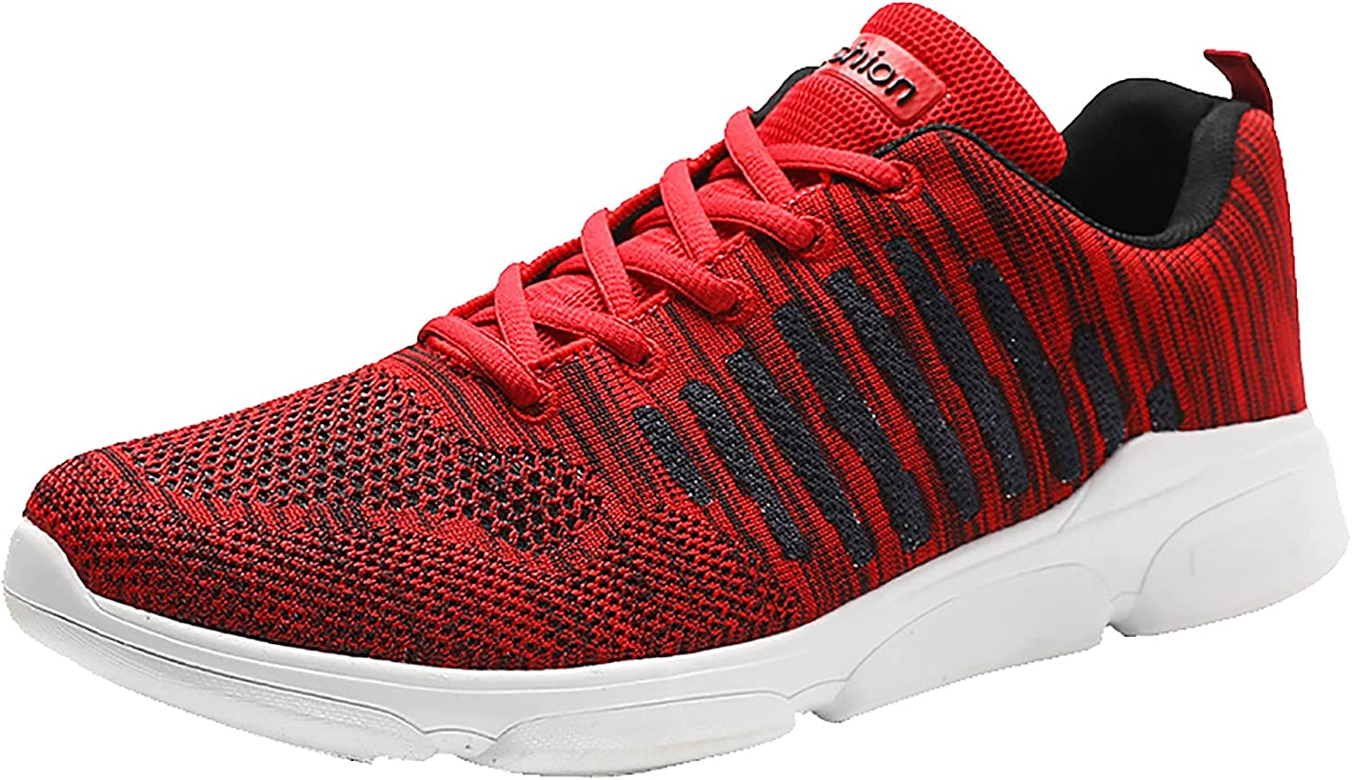 Adeliber New Mens Breathable Sneakers Fashion Casual Comfortable Running Sports Shoes Students Tennis Exercise Fitness Shoes Men Thick Bottom Increased Outdoor Walking Working Shoes