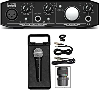 Mackie Onyx Artist 1.2 2x2 USB Recording Studio Interface+Microphone+Cable+Case
