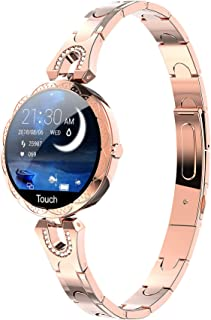 Smart Watch for Women Heart Rate Monitor Blood Pressure Watch Step Calorie Counter Sleep Tracker Pedometer Fitness Tracker Luxury Rose Gold Ladies Smart Watches for Android iOS