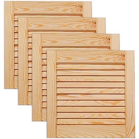 M/öbel Schr/änke Lamellent/ür Holzt/ür natur 140,6 x 59,4 cm mit offenen Lamellen f/ür Regale Kiefer Holz unbehandelt