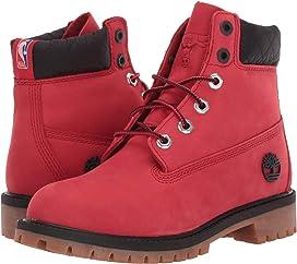Timberland Kids Boys Houston Rockets 6 Premium Boot Medium Red Nubuck 6 Big Kid M Big Kid