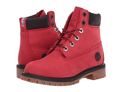 Timberland Kids 6 Premium Waterproof Boot Chicago Bulls (Big Kid) (Medium Red Nubuck) Kids Shoes