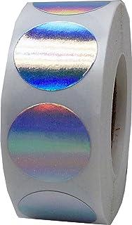 Plata Pegatinas de Círculos Holográficos, 19 mm 3/4 Pulgadas Etiquetas de Puntos 500 Paquete