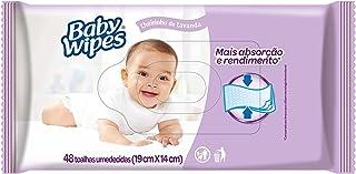 Lenços Umedecidos Baby Wipes Lavanda, 48 toalhas