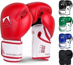 AQF Bokshandschoenen voor Training & MMA Muay Thai Bokszak Sparring MMA Handschoenen voor Kickboxing Fighting & bokszak me...