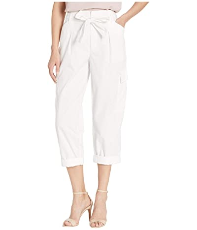 LAUREN Ralph Lauren Belted Twill Cargo Pants (White) Women