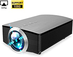 GAOAG Protable Mini Movie Projector Multimedia Home Theater Video Projector LCD 1080P for Home Theatre Support HDMI USB SD VGA AV TV Laptop Game iPhone iPad Android Smartphone