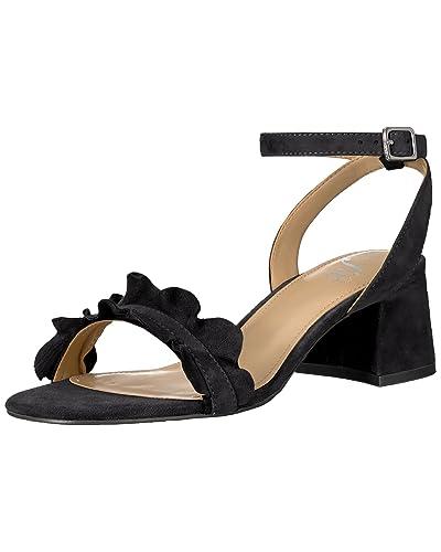 a6f66bd9c9f16 Black Heels with Buckles: Amazon.com