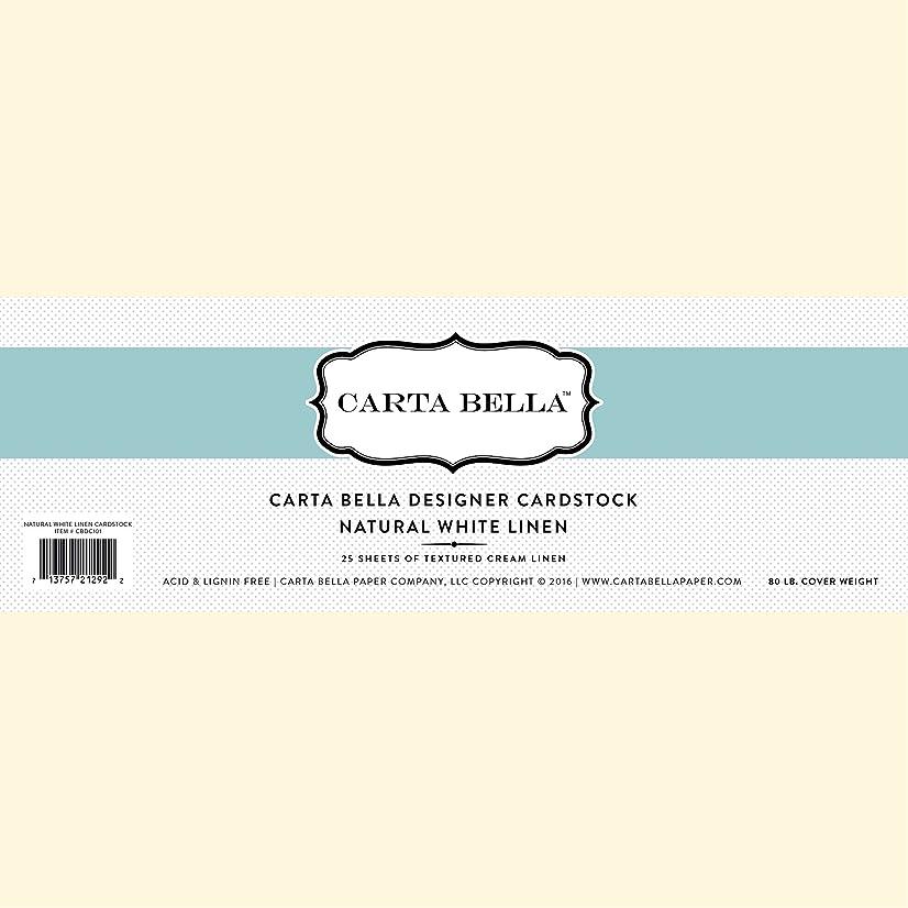 Carta Bella Paper Company Linen Cardstock, 80 lb, Natural/White