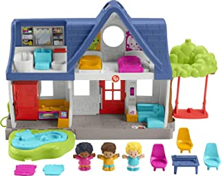 Fisher-Price Little People Friends Together Play House, electronic playset with Smart Stages learning content for toddlers...