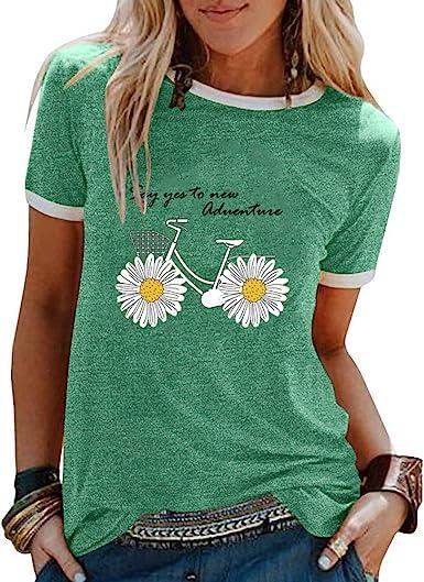 Camisetas de Hippie Estampadas de Dibujos Animados para Mujer ...