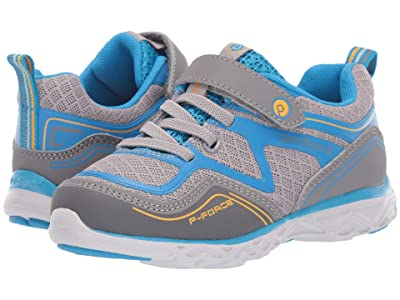 pediped Force Flex (Toddler/Little Kid/Big Kid) (Grey/Blue) Kid