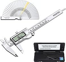 Proster Digital Vernier Caliper 6inch/150mm + 32 Feeler Gauges Dial Calipers Electronic..