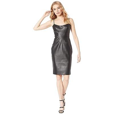 BCBGMAXAZRIA Alese Faux Leather Dress (Black) Women